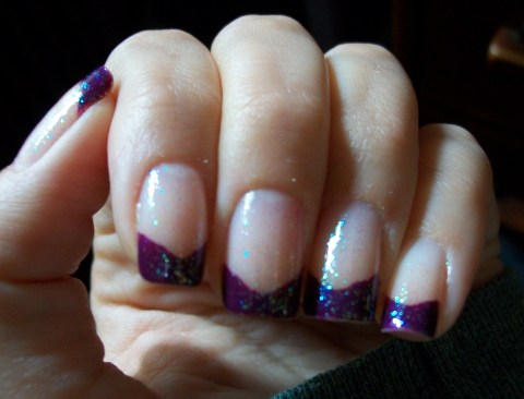 Sephora by OPI Eve-y on the eyes chevron french manicure