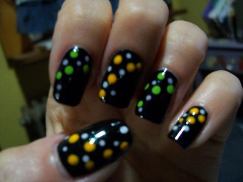Halloween Nail Dotting