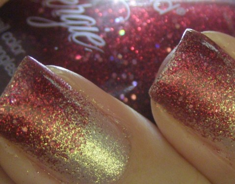 close-up of the sparkles in No Place Like Home