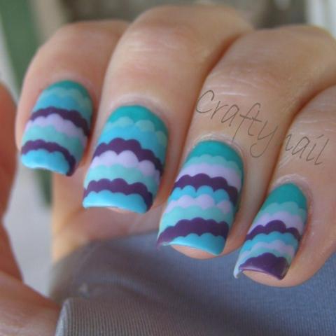 green_purple_ruffle_nails1