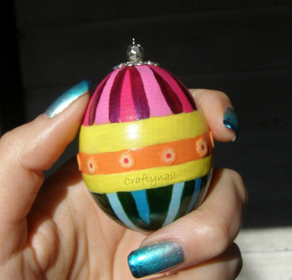 Embellished Nail Polish Easter Egg Craftynail