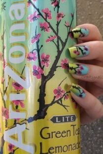 http://craftynail.com/2013/04/21/arizona-green-tea-nails/
