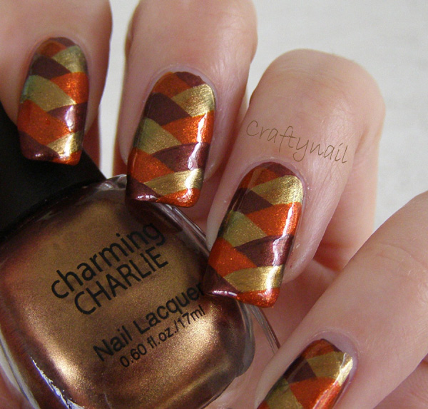 Craftynail: Earth-Toned Fishtail Nails