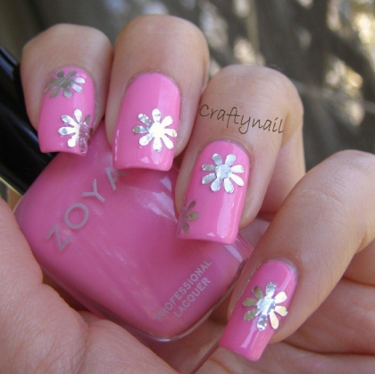 metallic_pink_aluminum_foil_nails