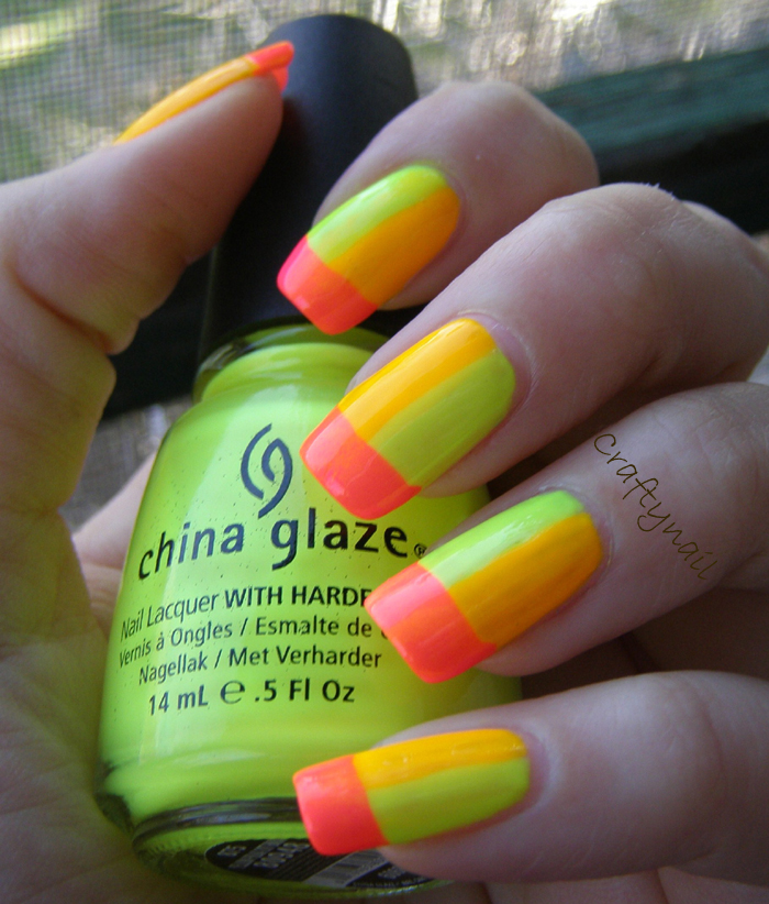Neon French Tip Nail Designs: Craftynail