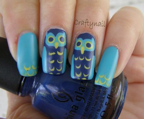 owl_nail_art