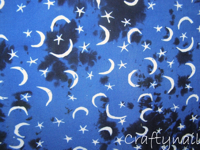 Curtains Ideas batik curtain panels : Batik Galaxy Nails with Moons and Stars | Craftynail