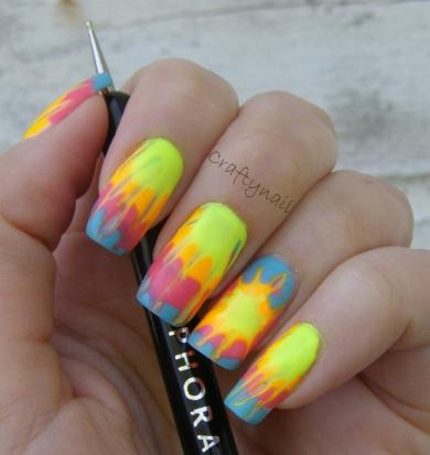 Tie Dye Nail Art Craftynail