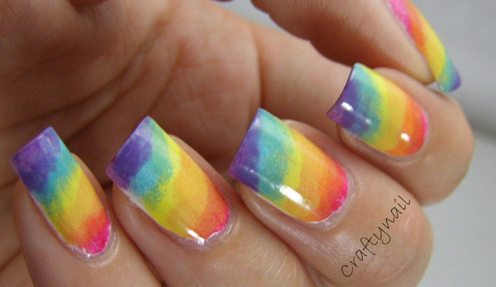 Rainbow Nails and my gradient technique!