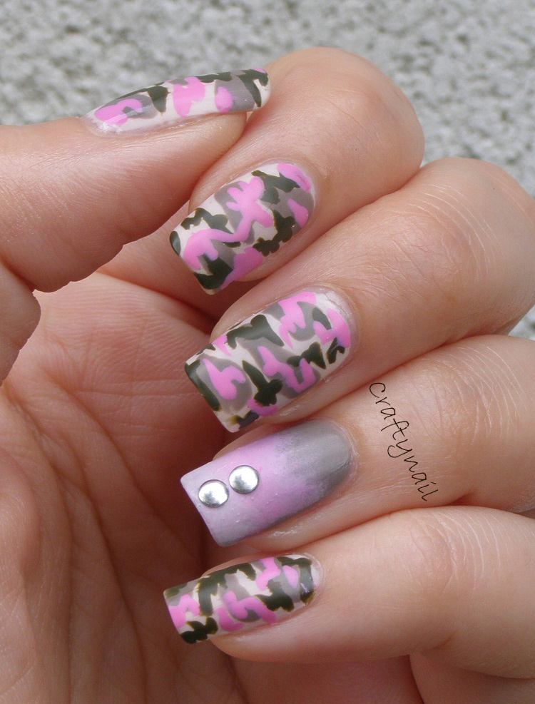Camo nail art craftynail camouflagenailart have you tried camo nails prinsesfo Choice Image