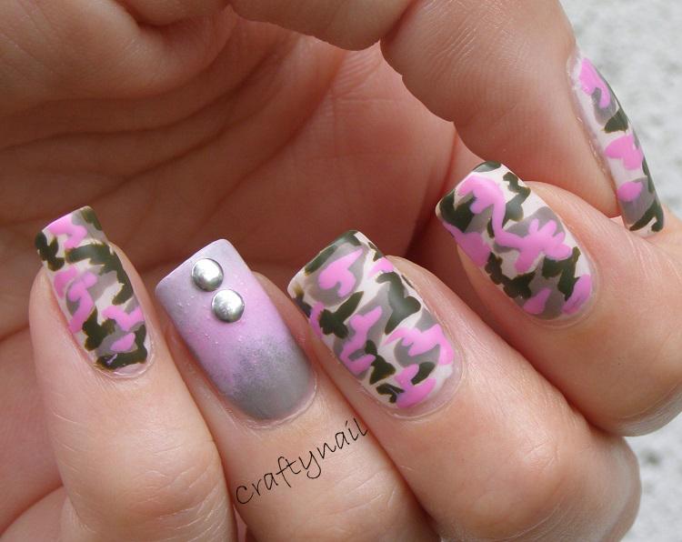 pink_camo_nail_art - Camo Nail Art Craftynail