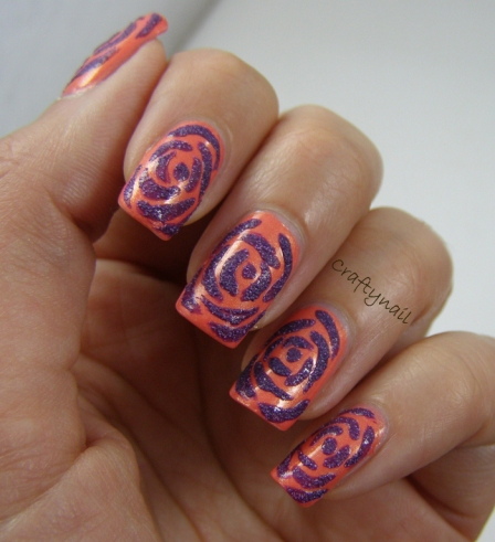 textured_rose_nail_art