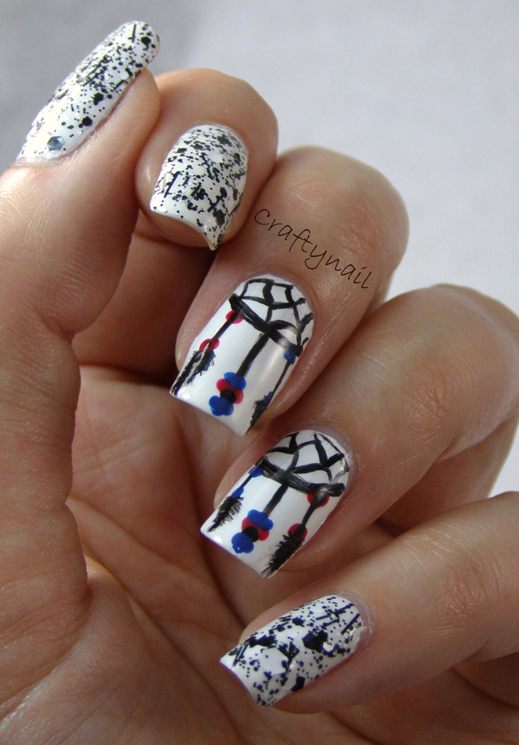 Craftynail: Dreamcatcher Nail Art