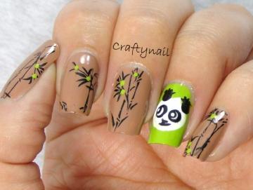 panda_bear_bamboo_nail_art