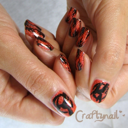 mockingjay_nail_art