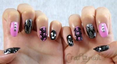 pink_black_skulls_nails