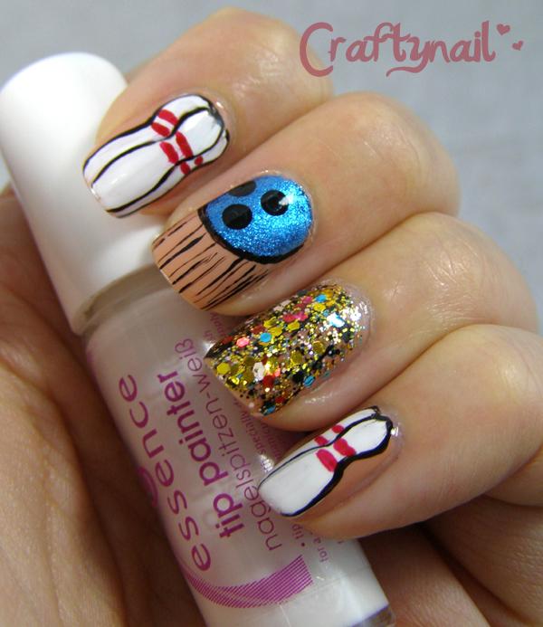 bowling nail art | Craftynail