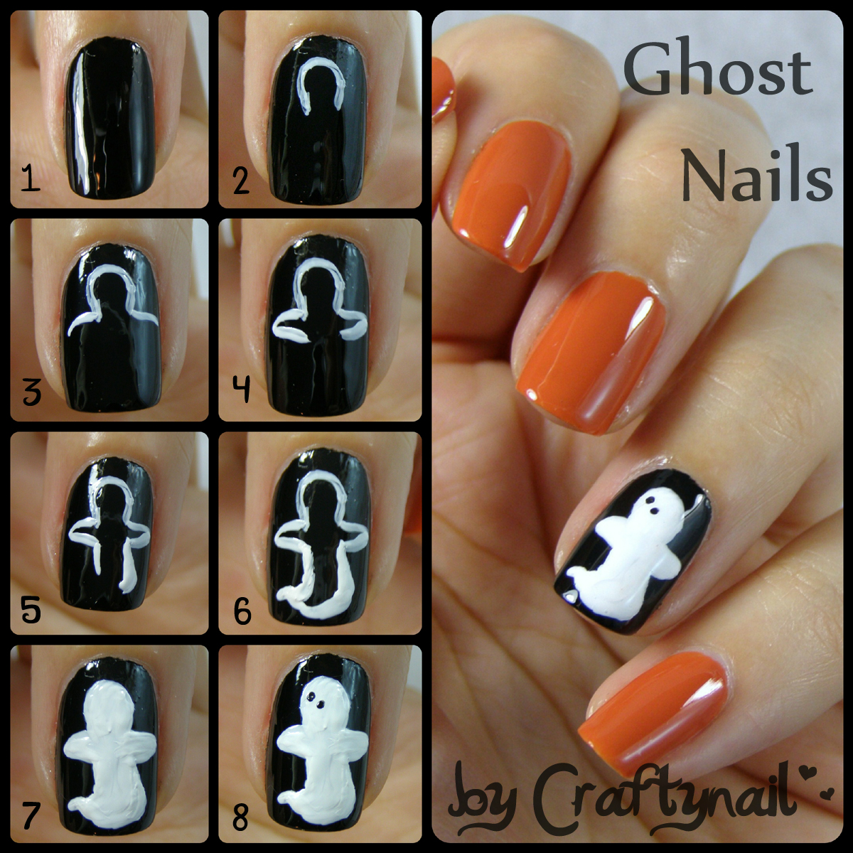 ghost_nails_tutorial - Ghost Nail Art Craftynail
