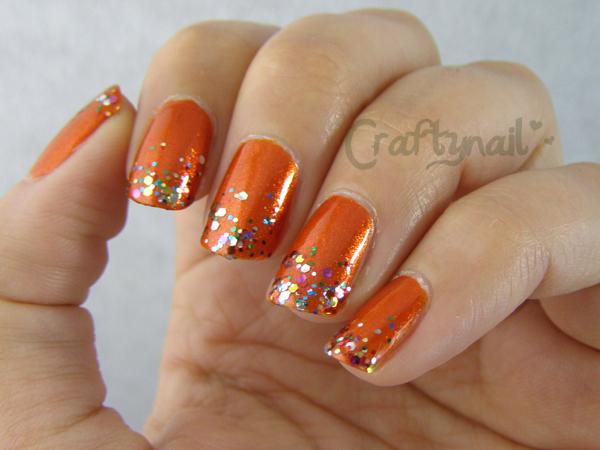 31dc2013 Day 2 Orange Nails Craftynail