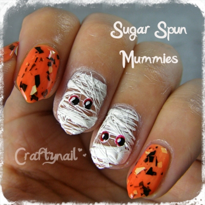 craftynail sugar spun mummies