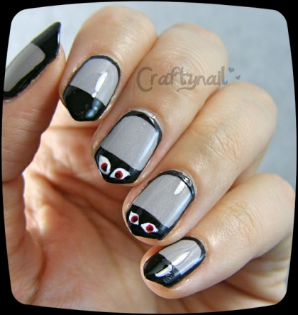 spooky eyes nails