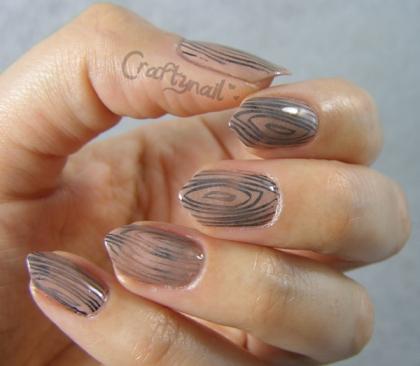 wood nail art