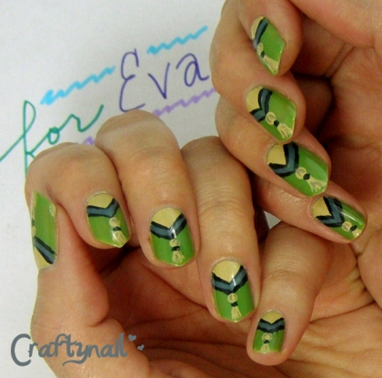 blue green nails for nail art contest