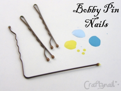 easy dots with bobby pins