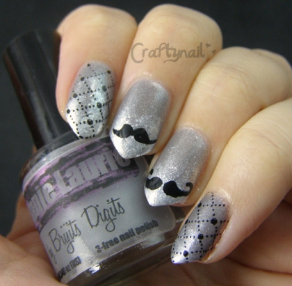 Brigits Digits Movember nail art