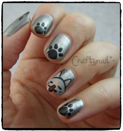 cat nail art - opi