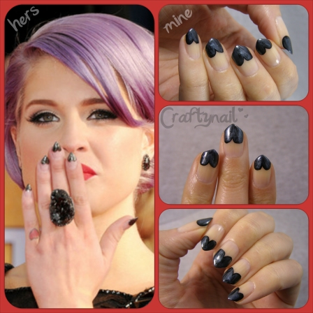 craftynail black heart nails
