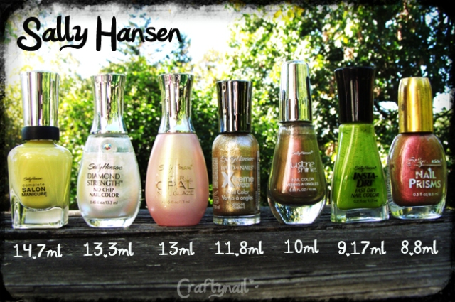 sally hansen bottle size