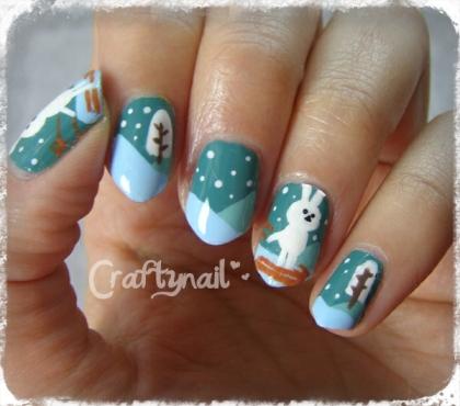snow bunny by craftynail