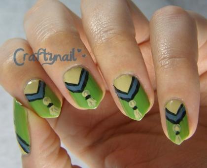 tassel nail art for eva's nail art contest