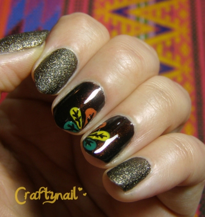 turkey feather nails for fall