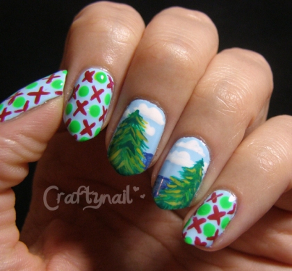 christmas love nails