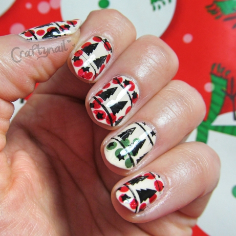 holiday nails dots stamps