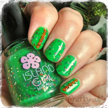 Island Girl Hawaii Glitter Nails
