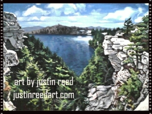 minnewaska painting by justin reed