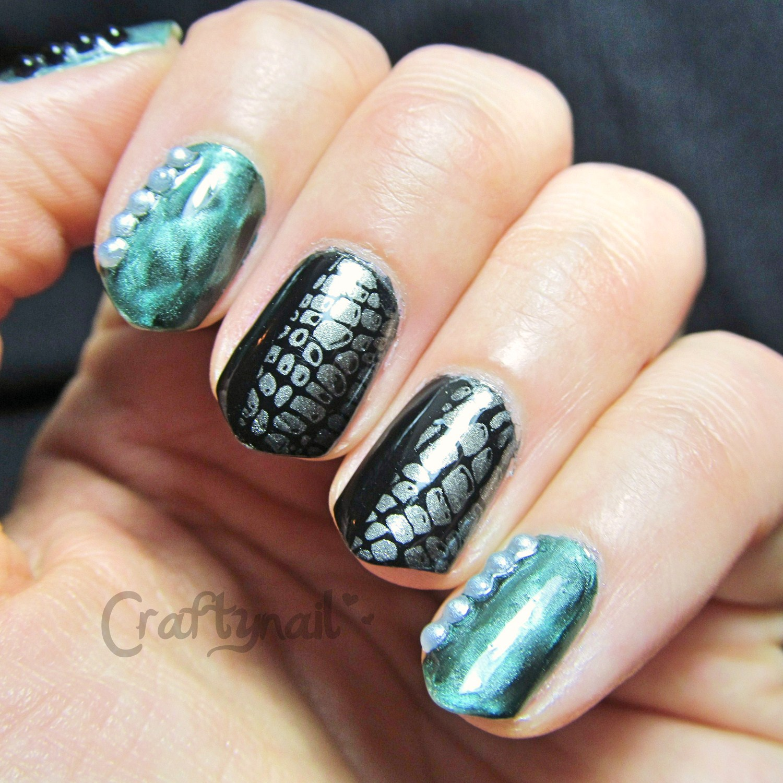 snake nail art   Craftynail
