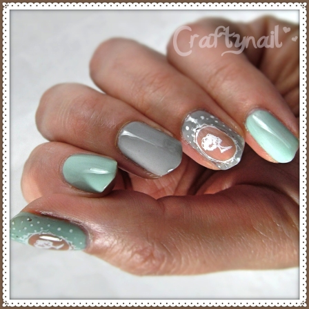 diy decal cameo nails