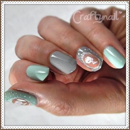 diy decal cameo nails