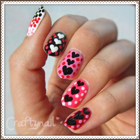 heart dotticure nails