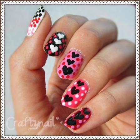 heart dotticure nails