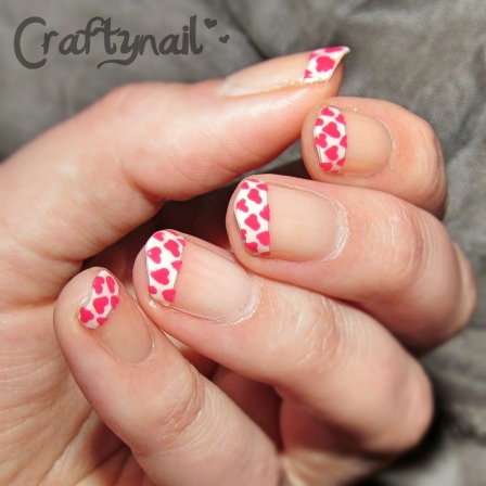 craftynail little hearts french mani