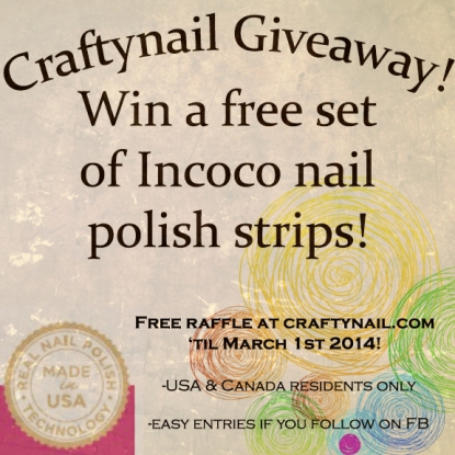 craftynails incoco giveaway