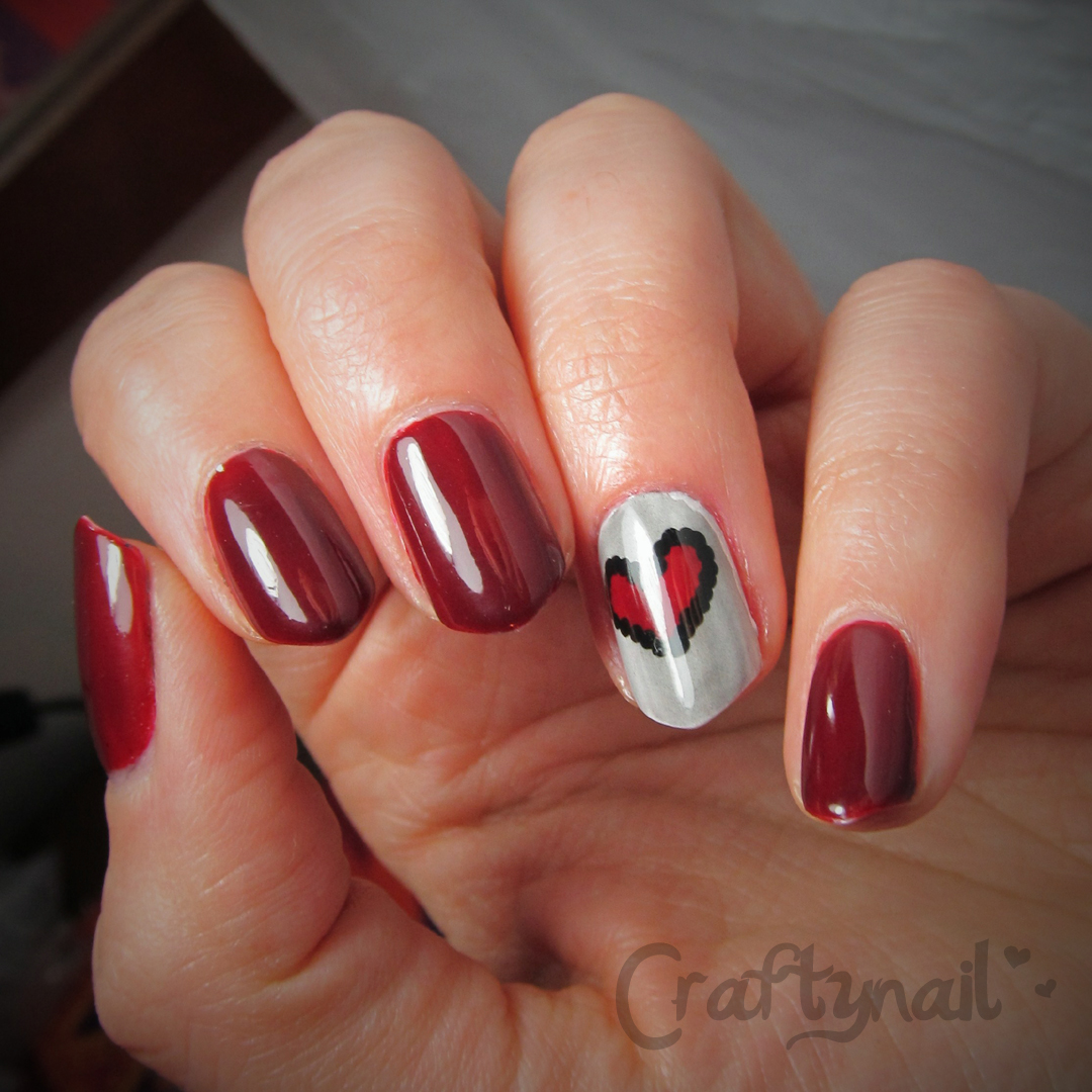 thermal heart nails - Heart Nail Designs Craftynail