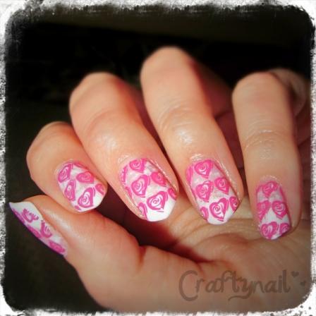 mash stamp roses nail art
