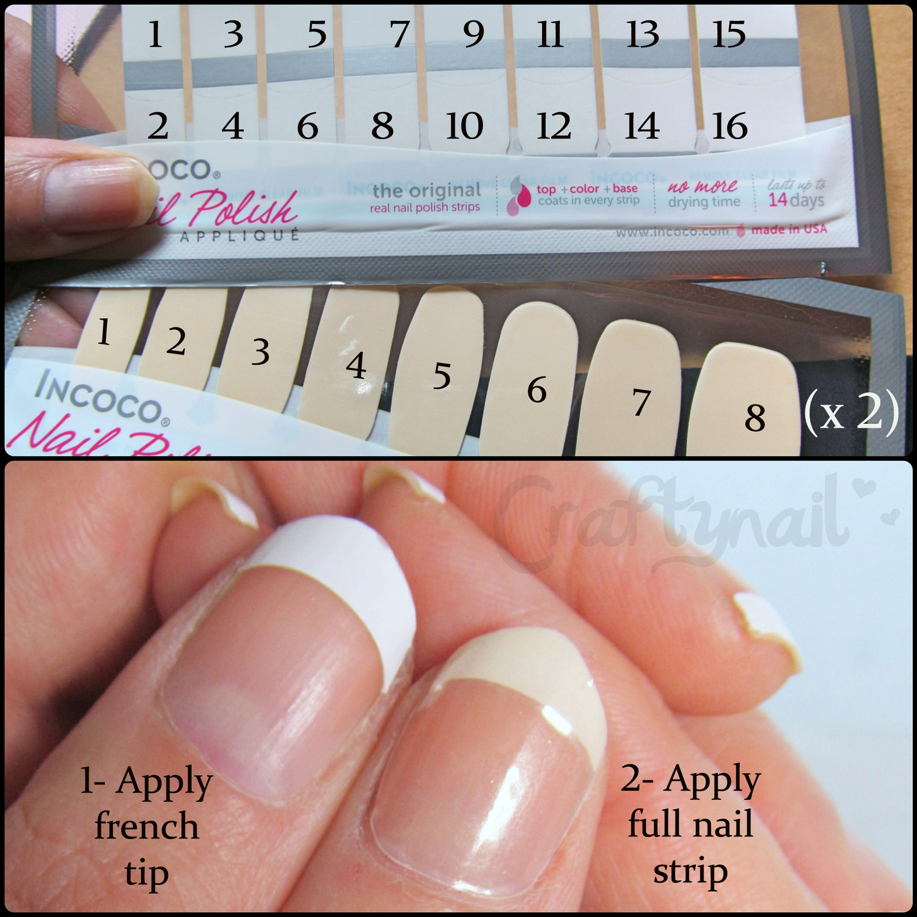 Incoco french manicure | Craftynail