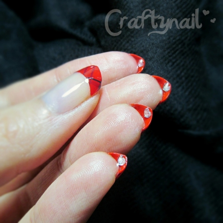 red heart underside mani by Craftynail